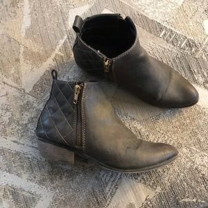 Mossimo Supply Co. Shoes - Mossimo Brown Quilted Pointed Toe Booties Sz 7.5